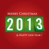 Merry Christmas and happy new year 2013 mechanical Stock Images