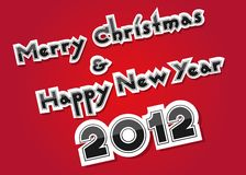 Merry Christmas and Happy New Year Stock Images