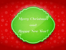 Merry Christmas and Happy New Year!. Merry Christmas and happy new year card Stock Image