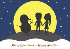 Merry Christmas and Happy new year.  Royalty Free Stock Photos