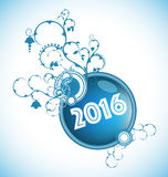 Merry Christmas and Happy New Year. 2016 Royalty Free Illustration