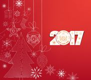 Merry christmas and Happy new year 2017.  Royalty Free Stock Image