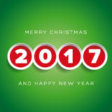 Merry Christmas and Happy New year 2017 Royalty Free Stock Image