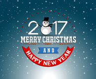 Merry christmas and Happy new year 2017 Stock Photography