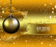 Merry Christmas and a Happy New Year 2015. An abstract illustration on Christmas and New Year Royalty Free Stock Photography