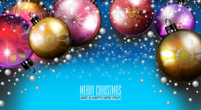 Merry Christmas and a Happy New Year 2015. An abstract illustration on Christmas and New Year Stock Image