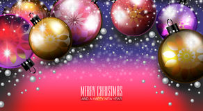 Merry Christmas and a Happy New Year 2015. An abstract illustration on Christmas and New Year Royalty Free Stock Images