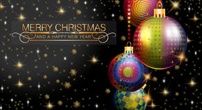 Merry Christmas and Happy New Year 2015. An abstract illustration on this Christmas Season Stock Images