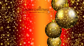 Merry Christmas and Happy New Year 2015. An abstract illustration on this Christmas Season Royalty Free Stock Photo