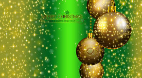 Merry Christmas and Happy New Year 2015. An abstract illustration on this Christmas Season Stock Image