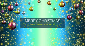 Merry Christmas and Happy New Year 2015. An abstract illustration on this Christmas Season Royalty Free Illustration