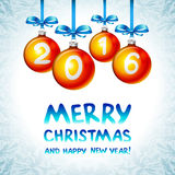 2016 Merry Christmas and Happy New Year. Art vector illustration