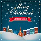 Merry Christmas and Happy New Year artwork vector illustration