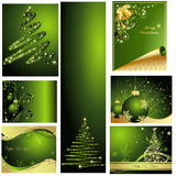 Merry Christmas and Happy New year background. Green Vector Merry Christmas background Stock Image