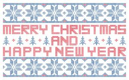 Merry Christmas and happy New Year stock illustration