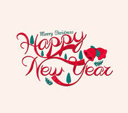 Merry christmas and Happy New Year. Background vector illustration