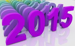 2015 Merry Christmas and Happy New Year Royalty Free Stock Image