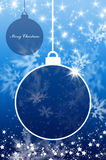 Merry Christmas and Happy New Year background with ball Royalty Free Stock Image
