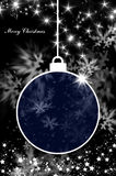 Merry Christmas and Happy New Year background with ball Stock Photo