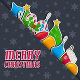 Merry christmas and happy new year background cards concepts. Vector Illustration design stock illustration