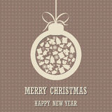 Merry Christmas and Happy New Year background with christmas ball Stock Photography