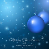 Merry Christmas and Happy New Year. Background with Christmas balls Royalty Free Stock Photos