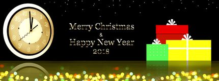 Merry Christmas and Happy New Year Background. Royalty Free Stock Image