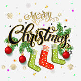 Merry Christmas 2017 Happy New Year. Background Royalty Free Stock Photography