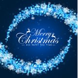 Merry christmas and happy new year background with concept snow Royalty Free Stock Photo