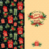 Merry Christmas and Happy New Year background. Stock Photos