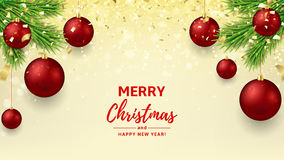 Merry Christmas and Happy New Year background Stock Images