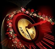 Merry Christmas and happy New Year background. Gold and red Royalty Free Stock Photography