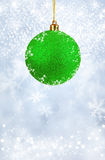 Merry Christmas and Happy New Year background with green balls Royalty Free Stock Image