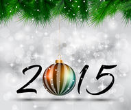 Merry Christmas and Happy New Year Background. With holiday themed design elements and background vector illustration