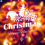 Merry Christmas and Happy New Year Background Royalty Free Stock Photos