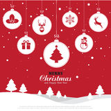 Merry Christmas and Happy New Year background. Illustration eps10 vector illustration