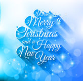 2015 Merry Christmas and happy new year background. With a lot of glitter and colorful lights Stock Photos
