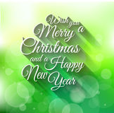 2015 Merry Christmas and happy new year background. With a lot of glitter and colorful lights Stock Photo
