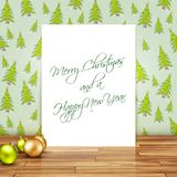 Merry Christmas and happy new year background.  stock illustration