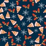 Merry Christmas and Happy New Year background. Seamless pattern. Vector illustration royalty free illustration