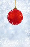 Merry Christmas and Happy New Year background with red balls Stock Image