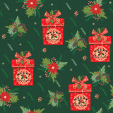 Merry Christmas and Happy New Year background. Seamless pattern. Stock Photography