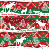 Merry Christmas and Happy New Year background. Seamless pattern. Royalty Free Stock Images