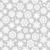 Merry Christmas and Happy New Year background. Seamless pattern with snowflakes on a gray background.Happy New Year background royalty free illustration