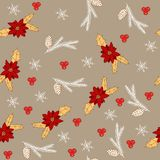 Merry Christmas and Happy New Year background. Seamless pattern. Vector illustration vector illustration