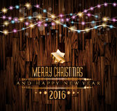 2016 Merry Christmas and Happy New Year Background. For Seasonal Greetings Cards, Parties Flyer, Dineer Event Invitations, Xmas Cards and sp on royalty free illustration