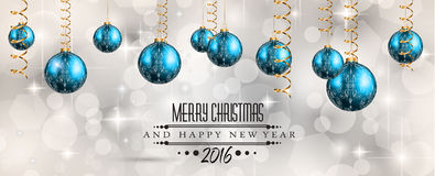 2016 Merry Christmas and Happy New Year Background Royalty Free Stock Image