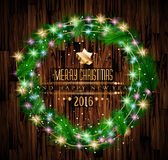 2016 Merry Christmas and Happy New Year Background. For Seasonal Greetings Cards, Parties Flyer, Event Invitations, Xmas Cards and sp on Stock Photos