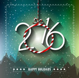 2016 Merry Christmas and Happy New Year Background. For Seasonal Greetings Cards, Parties Flyer, Event Invitations, Xmas Cards and sp on Royalty Free Stock Images