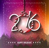 2016 Merry Christmas and Happy New Year Background. For Seasonal Greetings Cards, Parties Flyer, Event Invitations, Xmas Cards and sp on Royalty Free Stock Photos